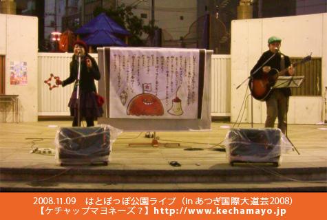 はとぽっぽ公園ライブ(inあつぎ国際大道芸2008)081109.jpg