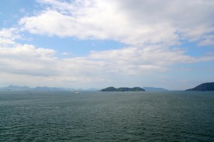 瀬戸内海は穏やかです。