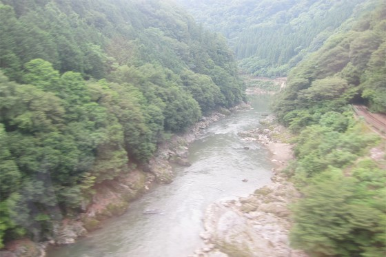 51_保津川急流下り、トロッコ列車はおあずけ。
