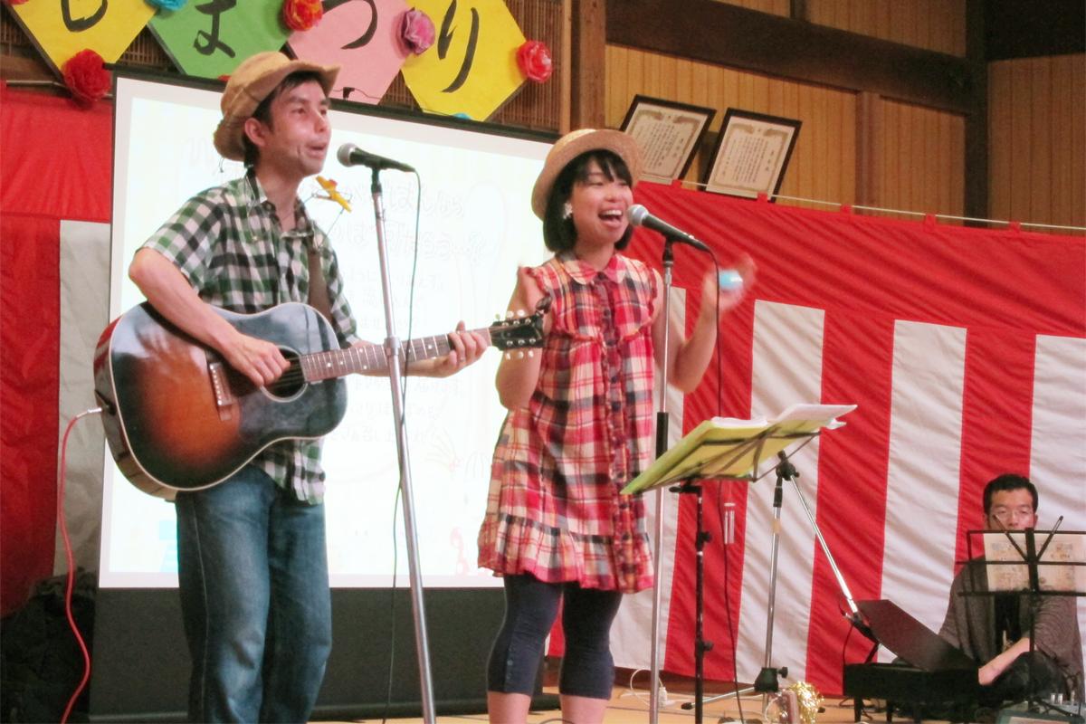 平塚市・前鳥(さきとり)神社こどもまつり、神楽殿で歌わせていただきました!