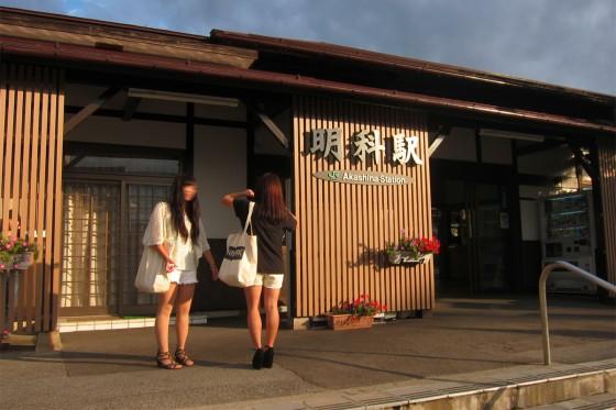 15_明科駅に到着!
