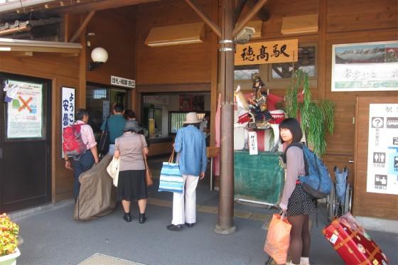 07_穂高駅に到着