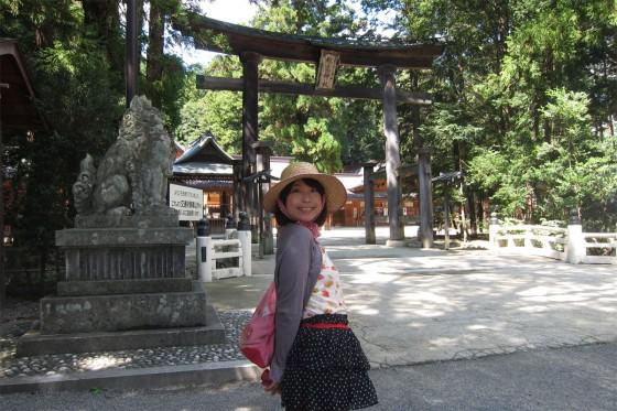 11_穂高神社の鳥居