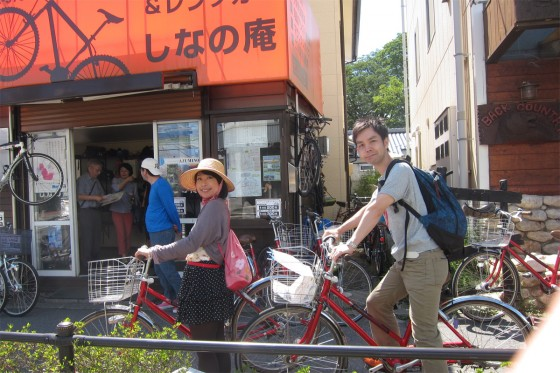 08_レンタサイクルに乗って安曇野を観光です