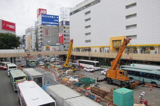 18_仙台の街は工事が多かったです