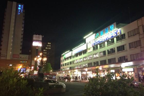 35_夜の新潟駅