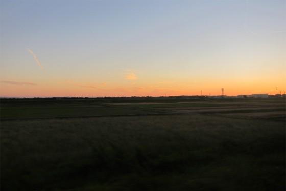 34_夕焼けがきれいな田園風景