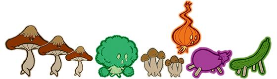 野菜オバケの大行進!