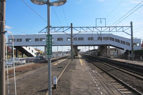 69_八郎潟駅のホーム