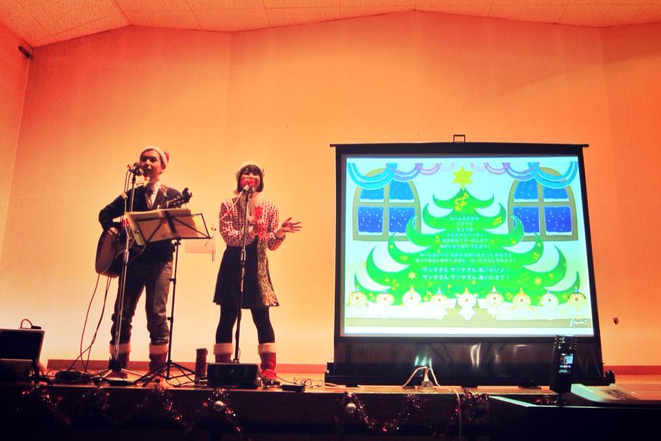 ケチャマヨのクリスマスコンサートが始まりました!@茨城県・芳香会病院 青嵐荘療育園