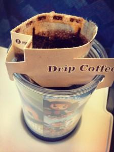 01_新幹線でドリップコーヒー
