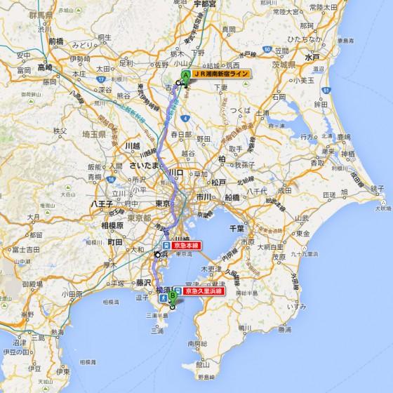 10_古河駅から久里浜駅まで