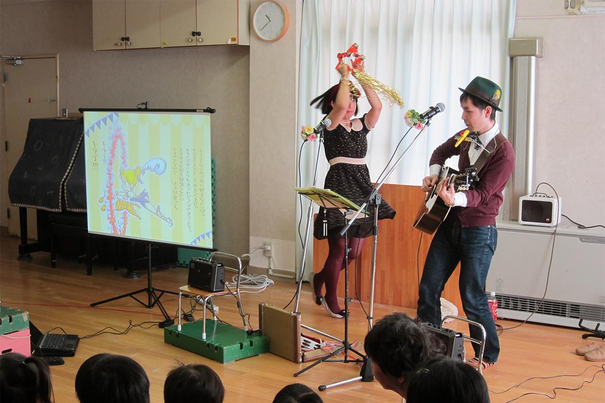 世田谷区・梅丘保育園「秋の観劇会」でケチャマヨのファミリーコンサート!そして大人のピクニック?