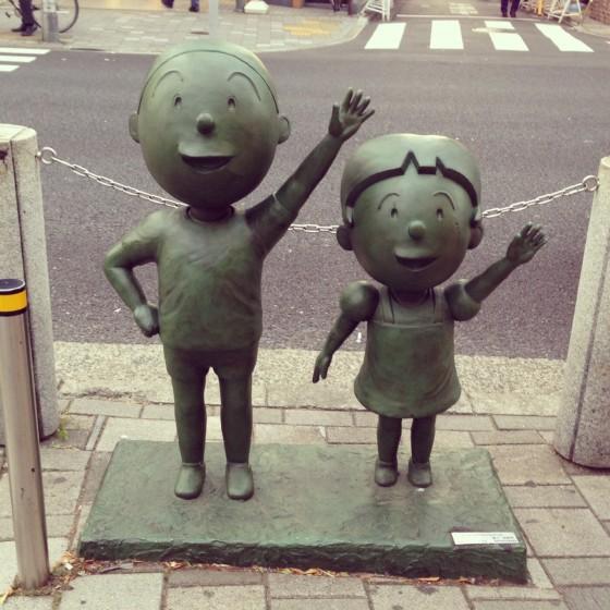 01_桜新町駅前のカツオとワカメ