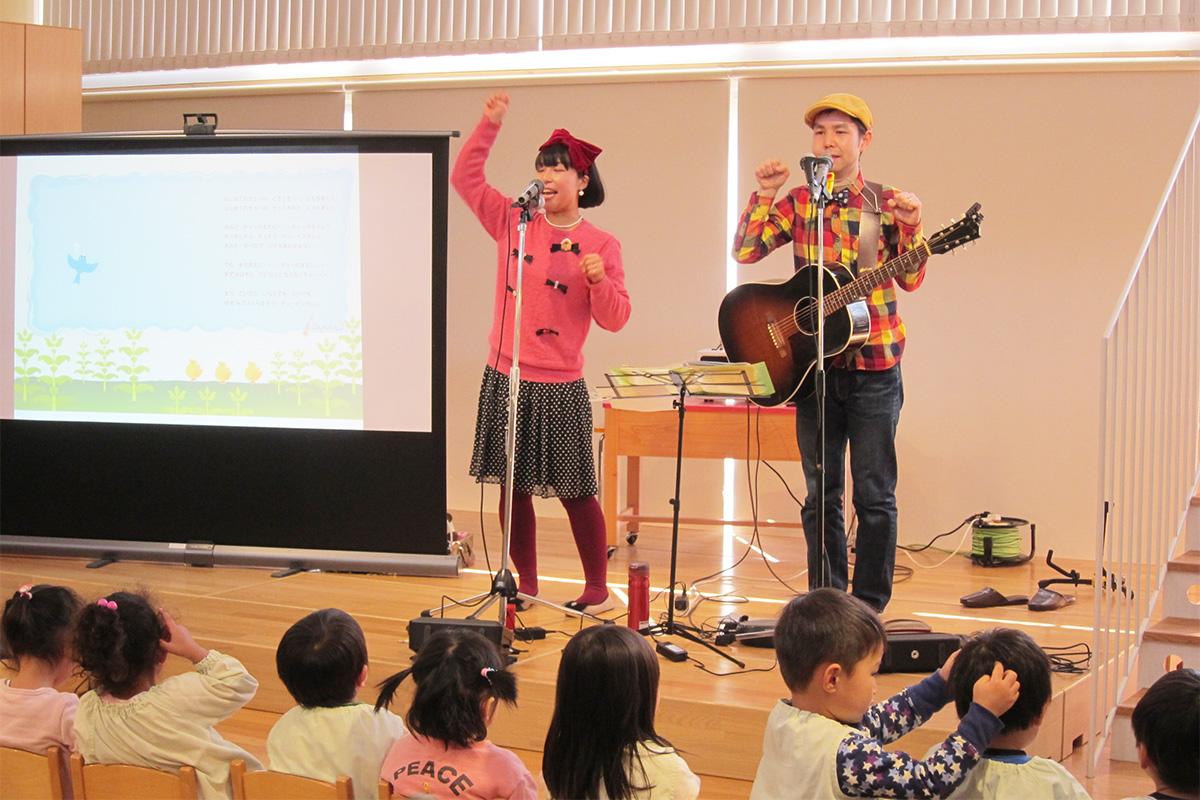 春の日に、保育園コンサート@海老名さくらい保育園(テレビ収録もあったよ!)