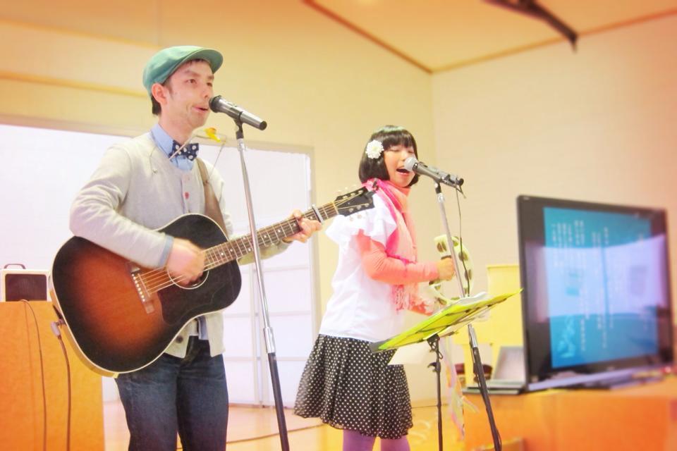 春の雨の日、八王子美山学園「お楽しみ会」にてコンサートを行いました!