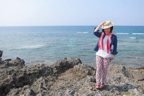 52_久高島の一番北、カベール岬に到着