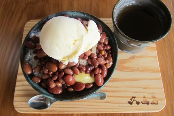 61_久高島の豆を4種類使った氷ぜんざい