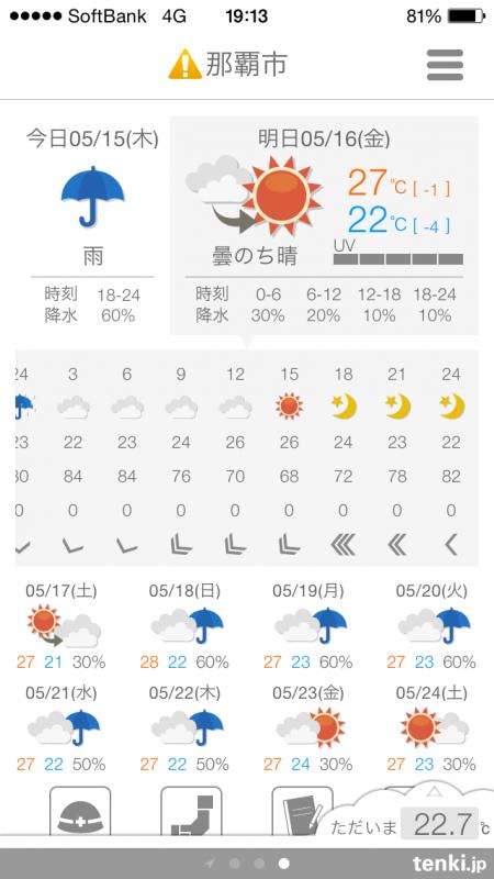 01_天気予報は…晴れに!