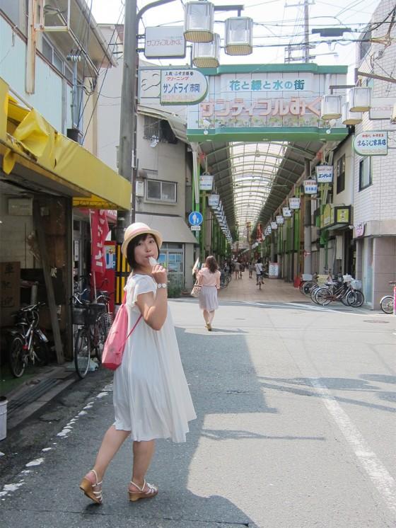 16_パピコを食べながら商店街散歩