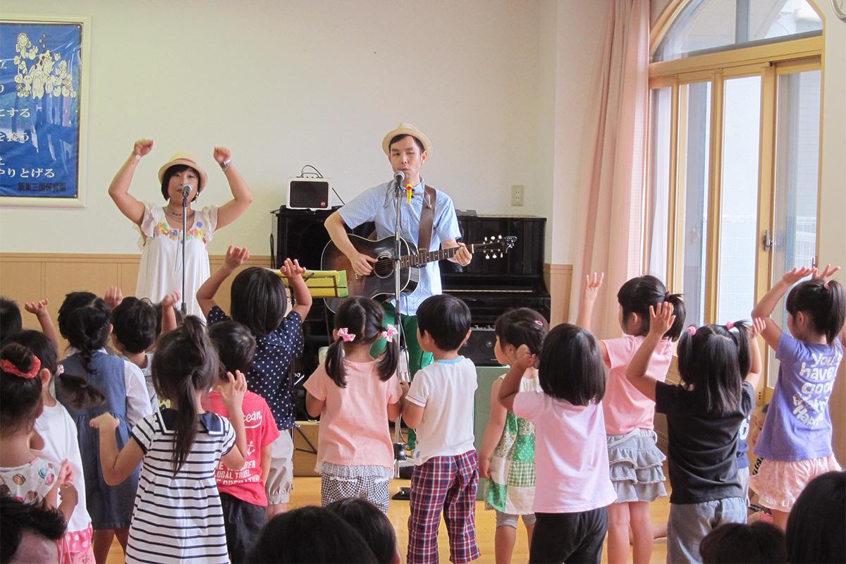 大阪市・新東三国保育園の親子コンサートに出演!