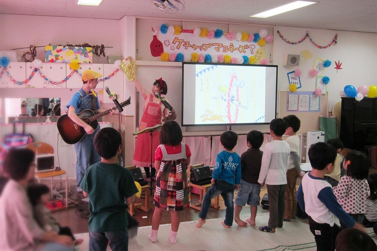 横浜市・南浅間保育園で親子コンサートを行いました♪・・・そして大移動?!