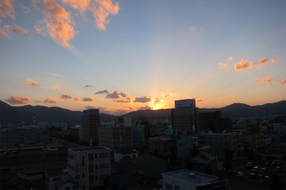 19_マンテンホテルからの夕陽