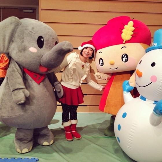 徳山動物園の「しゅうぞう君」と、シマヤの「みそらちゃん」と、ケチャマヨの「サヤカちゃん」です。