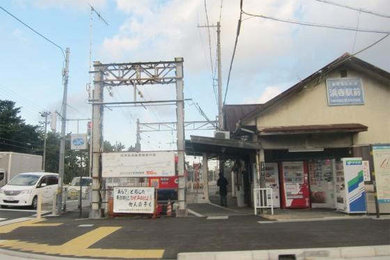 18_終点の浜寺駅前です