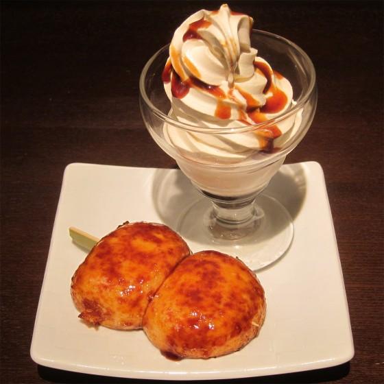 05_熱々焼きまんじゅうに冷たいソフトクリームを添えて(おぎのや群馬の台所)