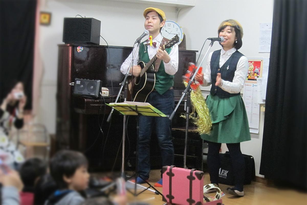 雨のち晴れ*練馬区・中新井幼稚園でおたのしみコンサートに出演しました!