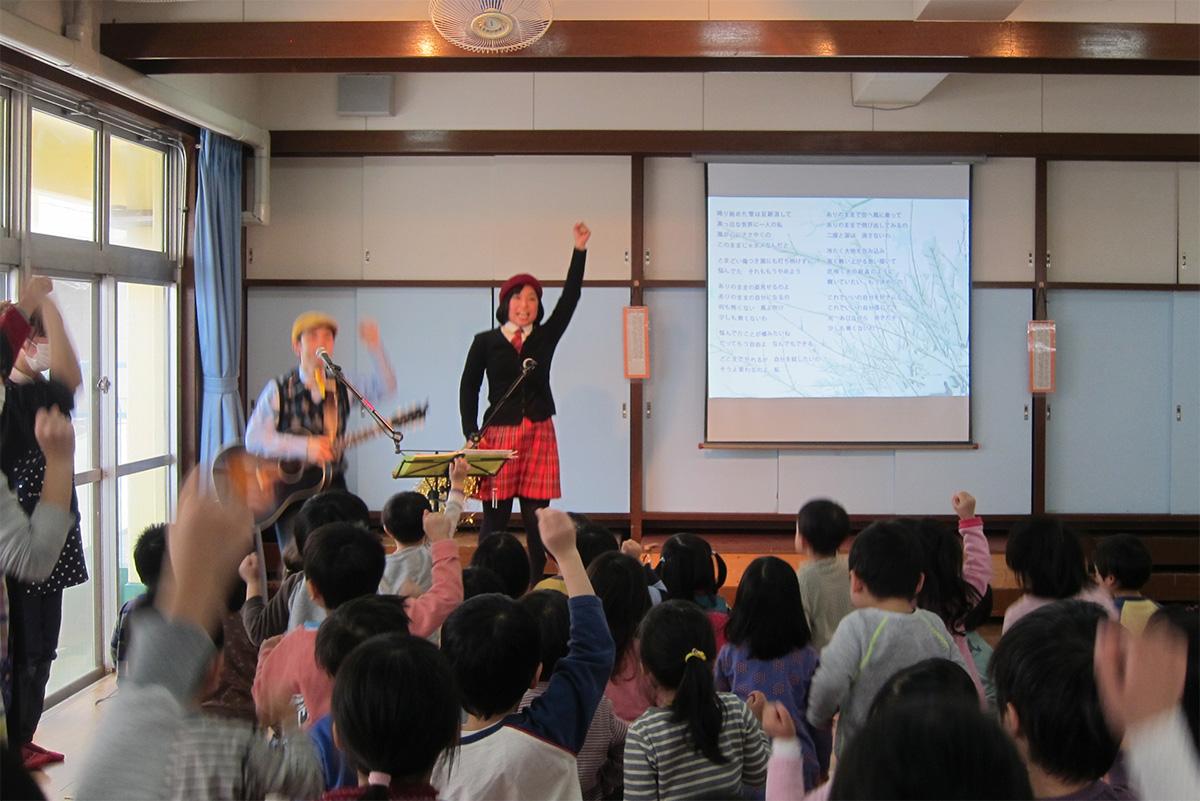 雪のち雪!三鷹市立野崎保育園・父母会主催のコンサートに出演しました!