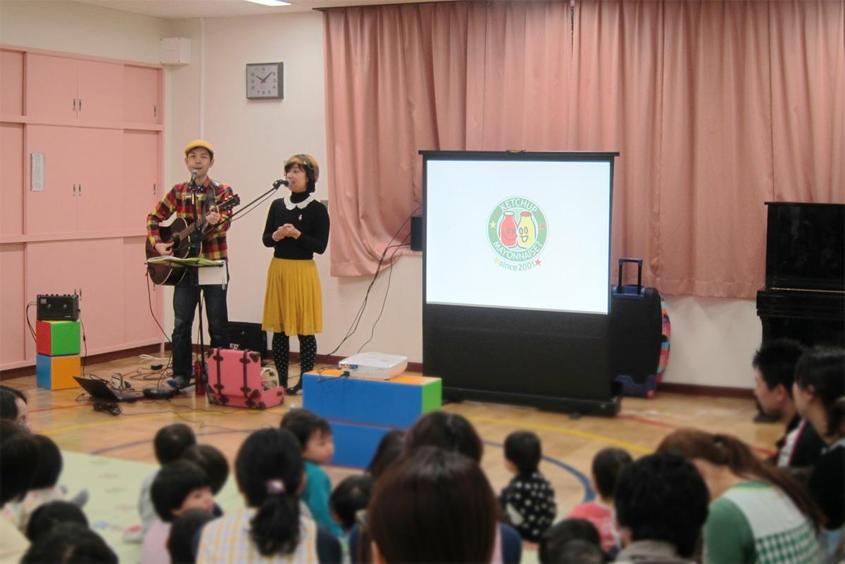新年最初のコンサートは荒川区立ひぐらし保育園で☆父母会主催の「みんなのコンサート」