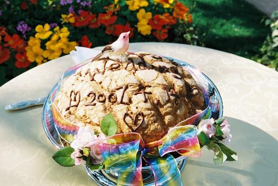 20_カラヘオのメロンパンでケーキカット!