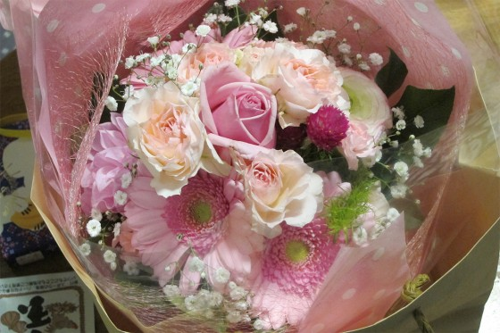 63_頂いた花束