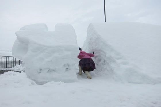 08_雪も積もっているところはスゴイ