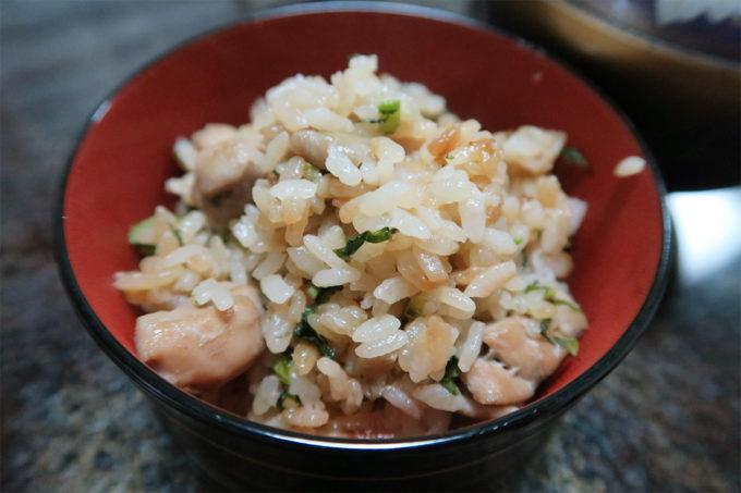 41_鶏と菜の花の炊き込みご飯