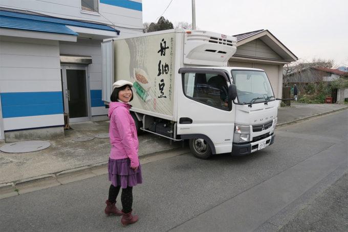 29_舟納豆のトラックに乗車!