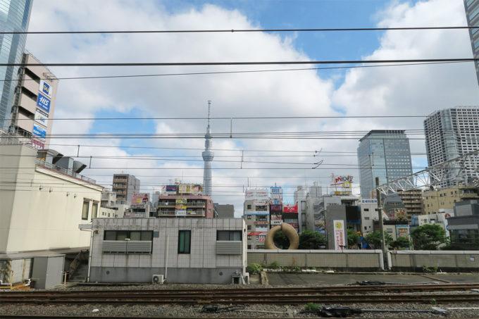 02_錦糸町乗り換えのスカイツリー