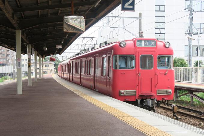 07_名鉄で知多半田駅に到着