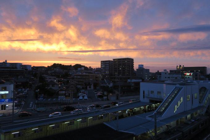 18_知多半田駅の夕日その2