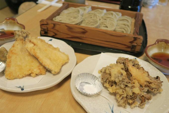 25_舞茸とイワナの天ぷら
