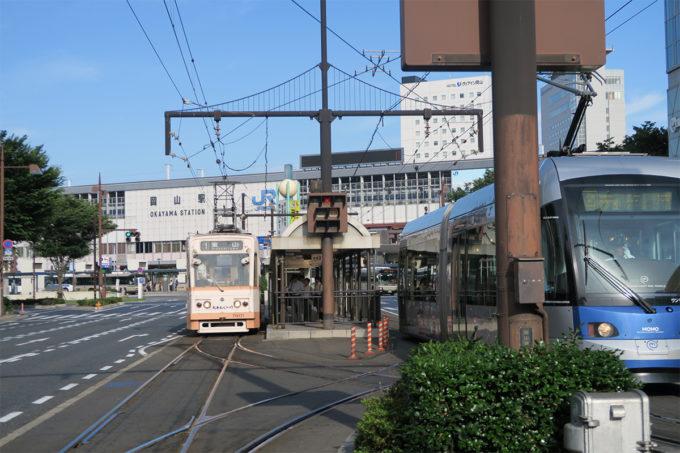 47_路面電車で岡山駅から