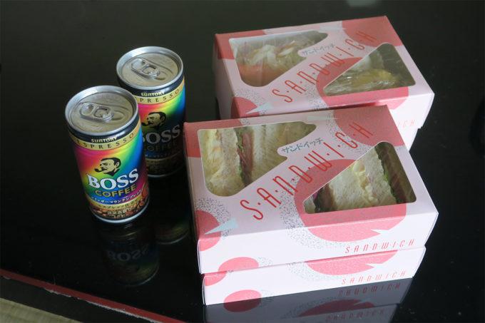 02_移動用にサンドイッチを作って頂きました