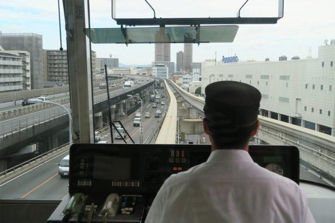 01_門真市駅からモノレール出発進行!