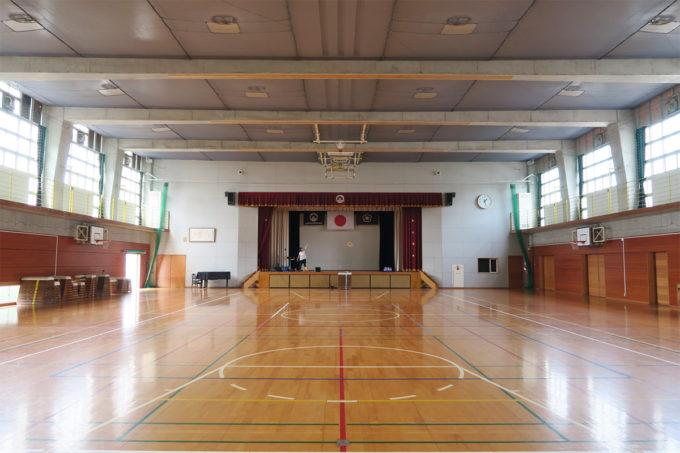 21_門司海青小学校の体育館をお借りしました
