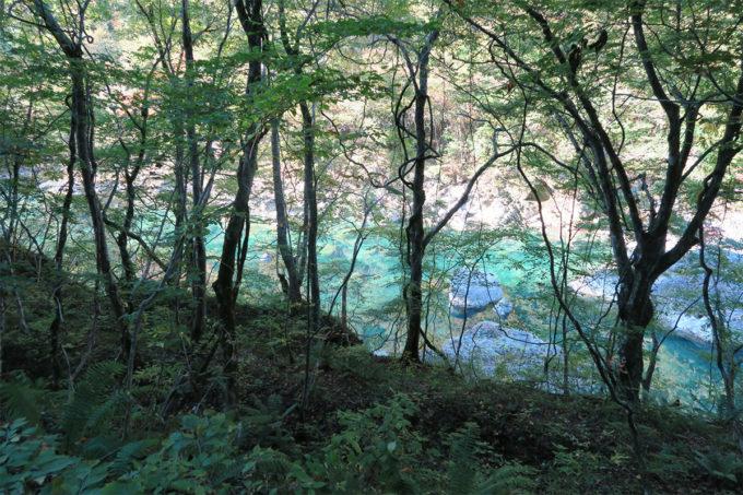 45_青く澄んだ川の水