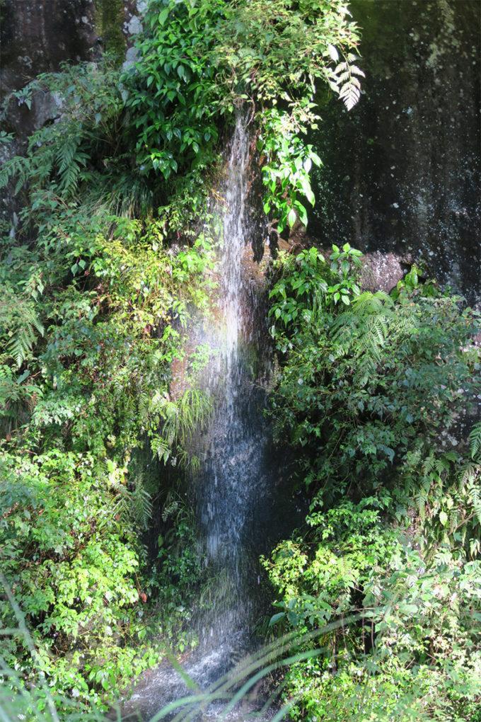 41_小さな滝には虹がかかっていました