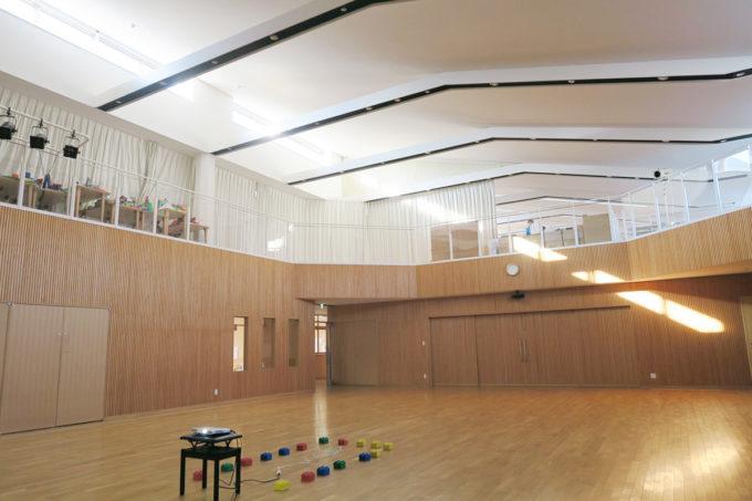 松風幼稚園の立派なホール