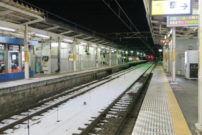 03_雪が少し残る新前橋駅